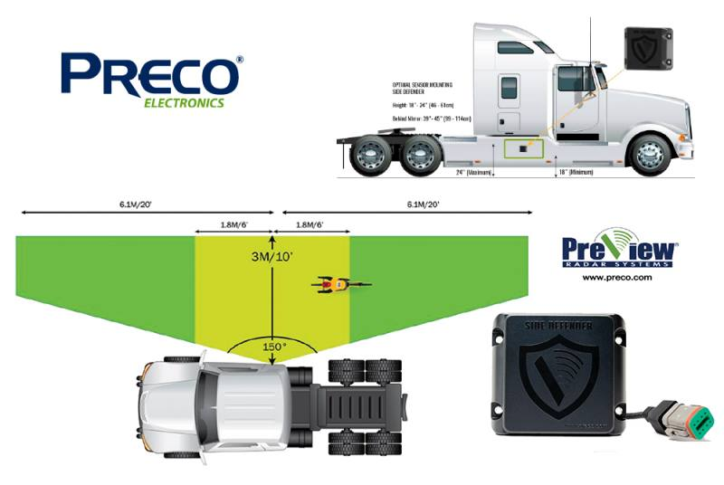 PRECO Electronics helps monitor truck blind spots